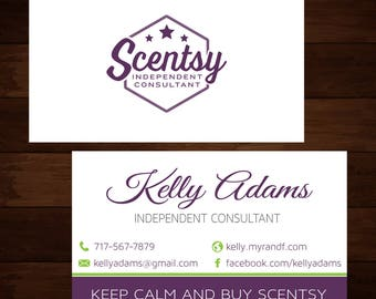 Scentsy Business Cards Digital File, Scentsy Custom Business Card, Scentsy personalized cards, Sentsy material marketing 0151