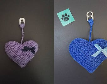 Key heart purple or blue with little bow!