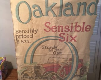Vintage Oakland Sensible Six Car Advertisement Blanket