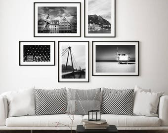 Black and White Photography, Black and White Wall Art, Printable, Printable Art, Explore Print, Instant Digital Download, Decor, Living Room