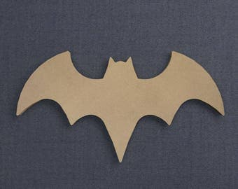 Batgirl Logo, Wood Cutout, Unfinished Sign