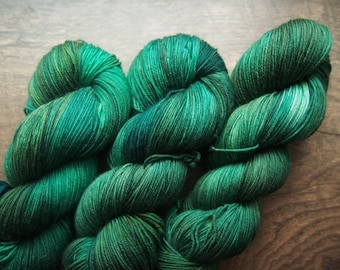 Emerald Superwash Merino - hand dyed yarn