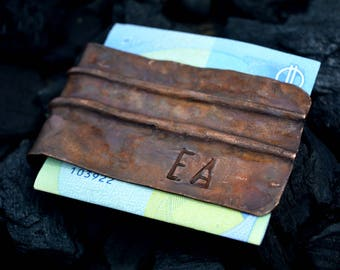 custom Money Clip,copper Money Clip,personalized money clip,unique,gift for him,fathers day gift,engravable,rustic,vintage,bithday,handmade