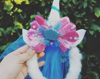 Mermaid themed unicorn headband