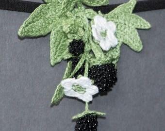 Realistic blackberry headband, blackberries hair flower, blackberry summer, berry hair accessories,crochet,handmade,nylon all size headband.