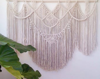huge macrame wall hanging/macrame art/photo prop/wedding decor/large macrame wall hanging/wall hanging/wall art/massive macrame wall hanging