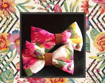 Chic Denim Floral hair bow