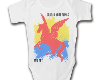 Spread Your Wings And Fly Baby Grow - Cute - Trendy