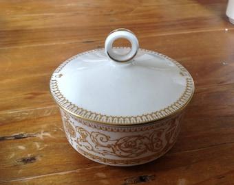 Royal Worcester Hyde park lidded sugar bowl