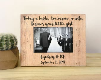 Father of the Bride Frame Gift Father of the Bride Gift Forever Your Little girl Frame Thank You Frame for Father of the Bride