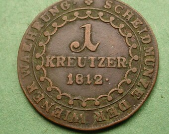 Austria 1812-A 1 Kreutzer Nice Details<> Ref Book # KM-2112 Free SH to US # ET643
