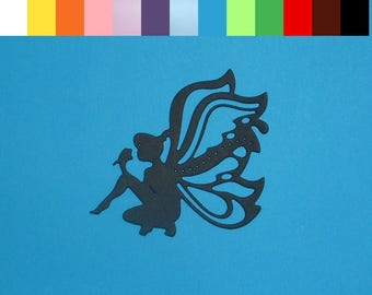 "4 Fairy Silhouette Die Cuts 2 1/2"" x 2 1/2"" Choose Your Color Cardstock Paper Fairies Scrapbooking Embellishments Card Making"