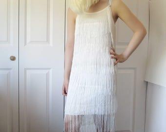 White Evening Dress, Charleston Dress, Art Deco Wedding Dress, Roaring 20s Dress,1920's Dress, Great Gatsby Wedding Dress, Flapper Dress