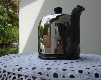 Guy Degrenne teapot - Insulated teapot - tea glass - porcelain and stainless steel