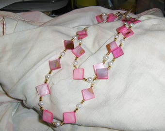 "Hot Pink ""Mother's Diamonds"" necklace"