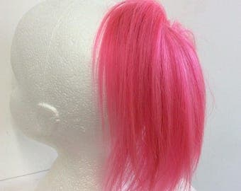 pink human hair extension scrunchie  35 g  8 inches