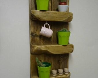 Rustic Reclaimed Wooden Shelf Unit