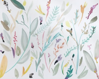 Wild and free blooms || original watercolor painting