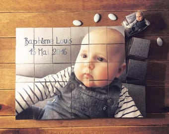 Box dragees baptism personalized picture Puzzle