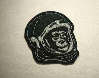 Space Monkey  ~ Embroidered Patch ~ Iron-On Sew-On