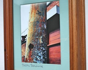Original Framed Abstract Art Photo - Liverpool Streets Baltic Bakehouse