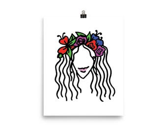 Girl With A Crown Premium Luster Print