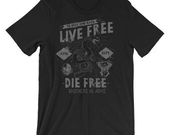 Live Free Die Free Brother In Arms Short-Sleeve Unisex T-Shirt