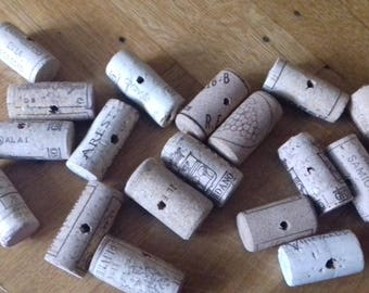 Wine corks - pre-drilled through the centre - for napkin holders,key chains etc