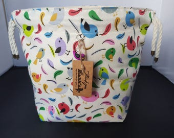 NEW* Little bird Drawstring project bag  small size