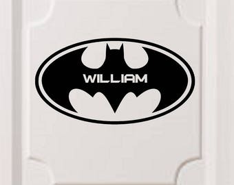 Batman Logo Personalized Vinyl Wall Decal