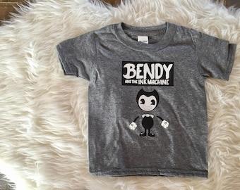 Bendy and the ink machine shirt, bendy shirt, bendy kids shirt, bendy and the ink machine birthday