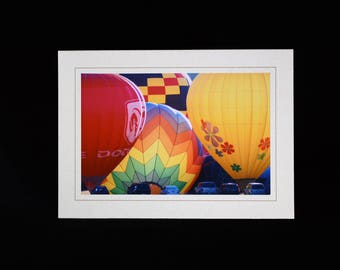 Balloon Fest Colorado, Balloon Note Card, Custom Made Photo Note Card, Photo Greeting Cards, Blank Photo Note Card