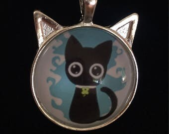 Cat necklace collier chat
