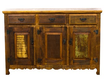 Rustic Buffet Sideboard  Eco Friendly Reclaimed Solid Wood