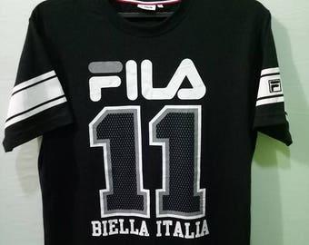 FILA SPORT fila 11 biella italia tshirt hip hop streetwear sportwear fila vintage 90s