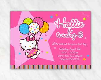 Hello Kitty Invitation for Birthday Party - Printable Digital File