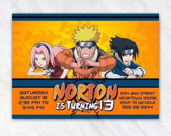 Naruto Invitation for Birthday Party - Printable Digital File