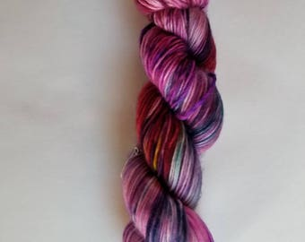 Worsted single ply merino hand dyed yarn indie dyed 225yards per 115g fluorescent yarn