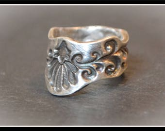 Silver 'Antique Effect' Ring - Silver Precious Metal Clay (PMC), Handmade, Ring - (Product Code: ACM091-17)