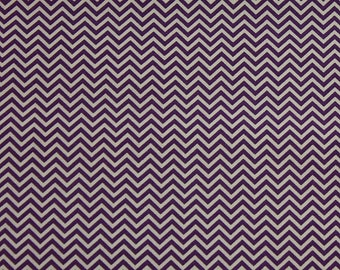 Violet Zig Zag Wide Fabric Fat Quarter