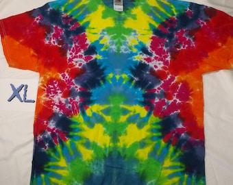 XL Rainbow Scrunch Tie Dye Shirt