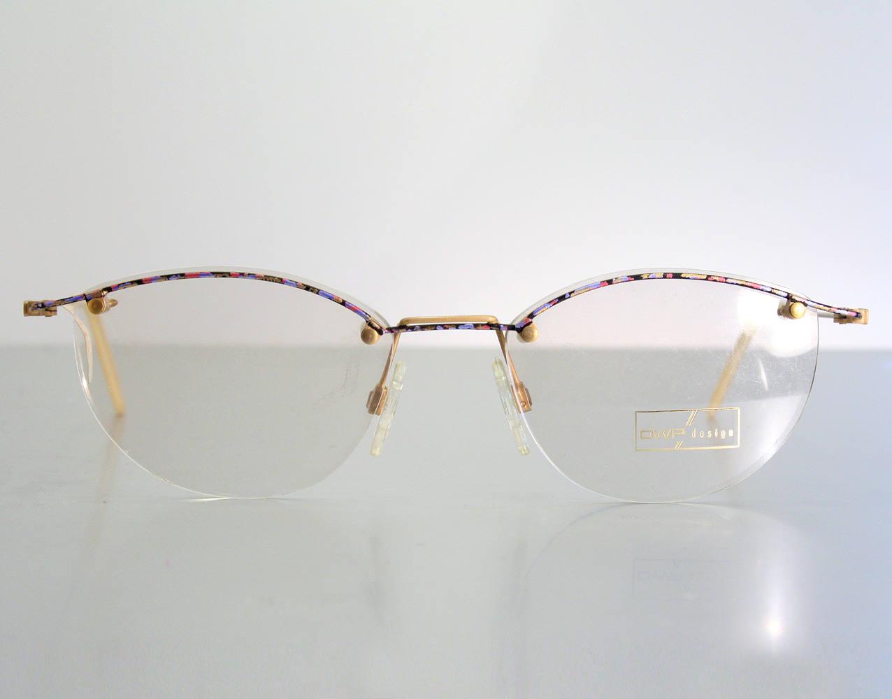 Unworn 80\'s OWP DESIGN Very Light Semi Rimless Colorful Eyeglass ...