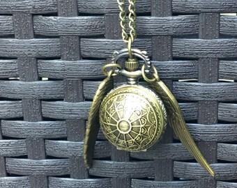Bronze Pocket Watch necklace