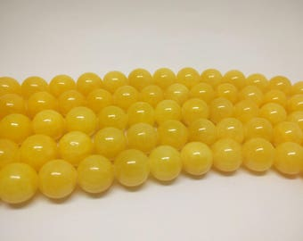 Yellow Beads Jade Beads Mashan Jade Beads Mountain Jade Beads Candy Jade Beads for Bracelets Beads for Jewelry Making Jewelry Beads
