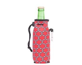 Neoprene Bottle Cooler With Carabiner