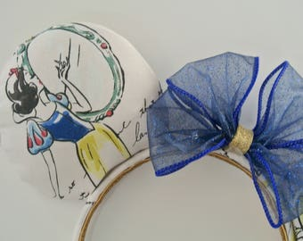 Watercolor Snow White Ears