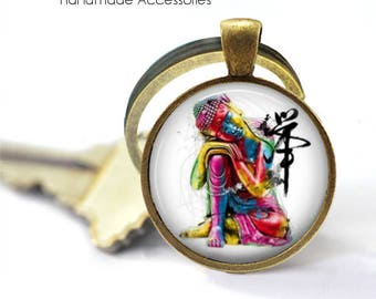 BUDDHA Key Ring • Watercolour Buddha • Thai Buddha • Buddhist • Buddhism • Gift Under 20 • Made in Australia (K483)