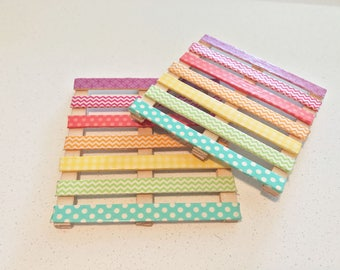 Pallet Drink Coasters, Rainbow Washi Tape Drink Coasters