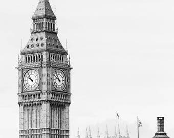 Big Ben Wall Art, Big Ben Photo Print, Houses Of Parliament Photo, Big Ben Photography, Picture Of London Landmarks, Westminster Photography