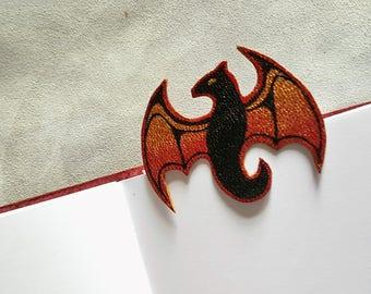 """Dragon"" leather bookmark"